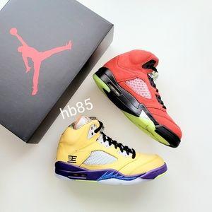 "Air Jordan 5 Retro SE ""What The"" Varsity Maize Solar Orange Men's 8.5"
